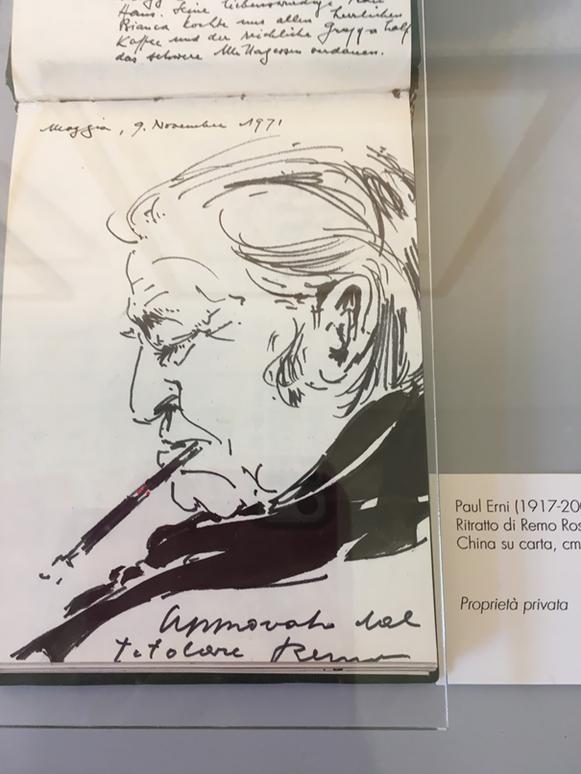Skizze von Paul Erni (siehe LIteratur) (Quelle: Fondazione Remo Rossi)