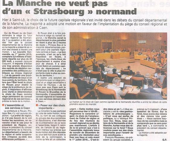 Presse de la Manche, 15.06.2015