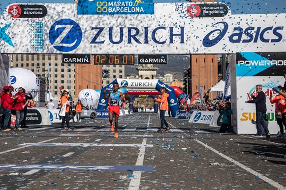 Alemu Bekele gana el Maratón de Barcelona (Organizadores) © Copyright