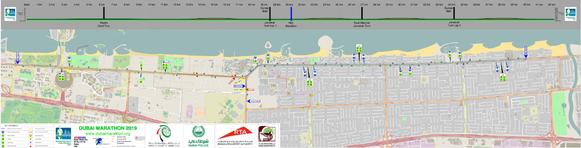 Ruta y Altimetría del maratón de Dubai