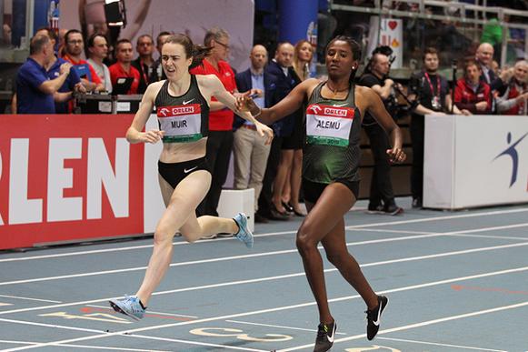 Habitam Alemu gana en un gran cierre en los 800m en la reunión de la IAAF World Indoor Tour en Torun (Jean-Pierre Durand) © Copyright