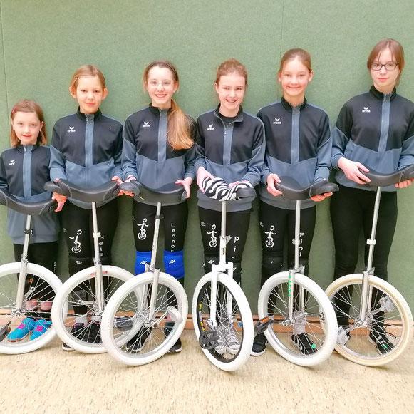hintere Reihe (von links): Finja, Pia, Linn, Vera/ vordere Reihe (von links): Neele, Hannah, Leonore, Helene, Anouk
