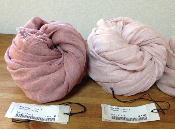 左)ローズピンク、右)ライトピンク