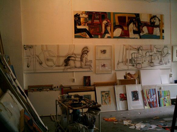 Karussellbild 5, 11, 12 Atelier 08.Juli 2005