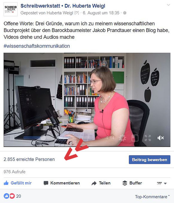 Beispiel eines Facebook-Postings