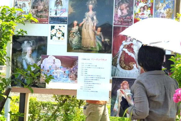 バラを愛した悲劇の王妃〈マリー・アントワネット〉のパネル