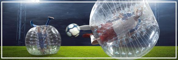 jugada de bubble futbol en Cádiz