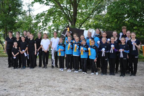 Die platzierten Gruppen auf den Medaillenplätzen, Wackernheim vor Luxembourg und Homburg