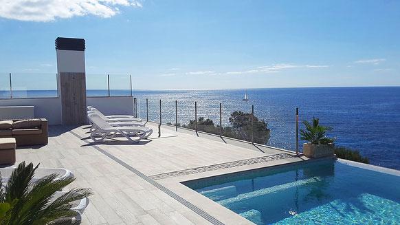 Villa Lifetime - Meerblick von der Terrasse