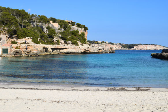 Nearby beach of Cala Llombards