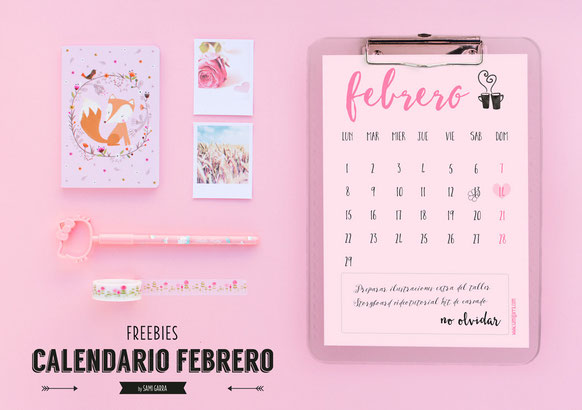 Freebies de Calendario: FEBRERO by Sami Garra