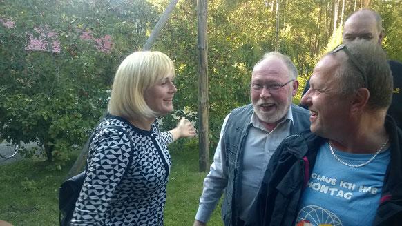 Dann bekamen wir Besuch von Dolmetscherin Olga und ihrem Sohn