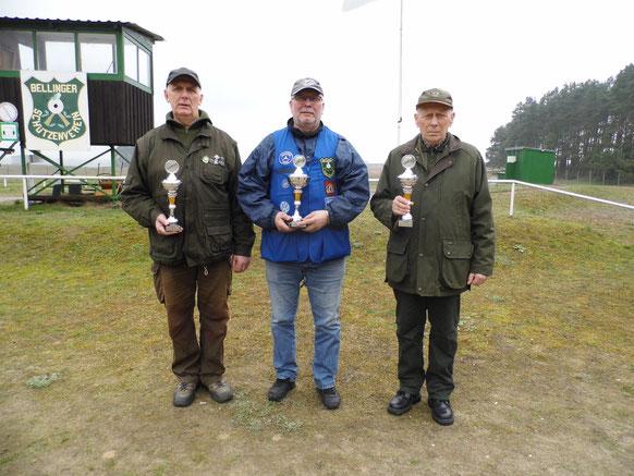 Gewinner der Seniorenklasse B von links nach rechts: Gunther Greiff, Frank Hoellge und Jürgen Gottschlich