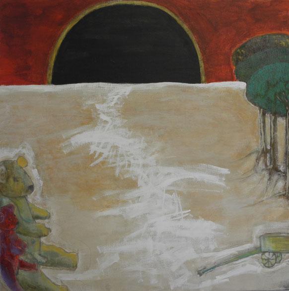 Lilith Dunkelmond III, 2009, 100 x 100 cm