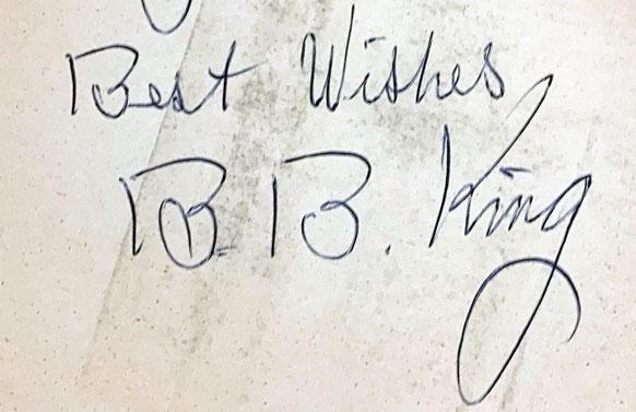 Autograph B.B. King Autogramm