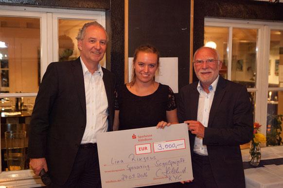 Scheckübergabe auf dem Clubfest des Kölner Yacht Clubs durch den Vorstand, (c) Hillebrand