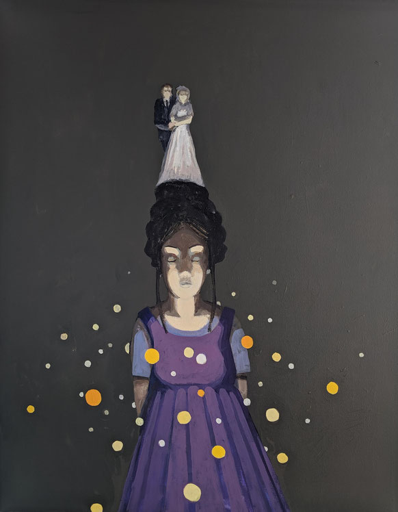 the wedding - Acryl auf Leinwand, 100x80cm, 2019