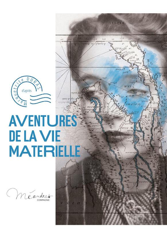 La Vie Matérielle, Méandres, dessin préparatoire Elise Combet