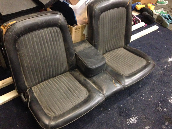New seat out of a 68 Mustang, a rare split bench seat