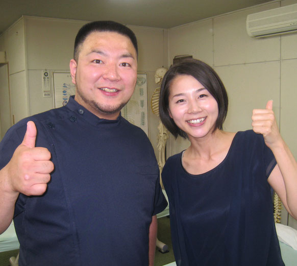 古舘友華さんと(テレビ岩手)