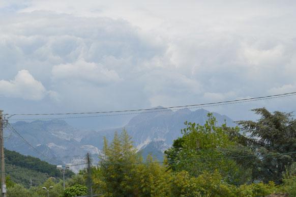 Marmor-Steinbrüche in der Nähe von Carrara