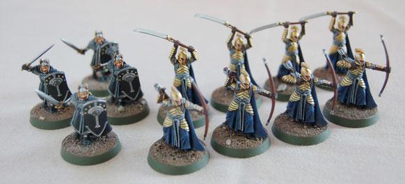 Elfes et humains de la dernière alliance Le Seigneur des Anneaux, le jeu de batailles - Games Workshop