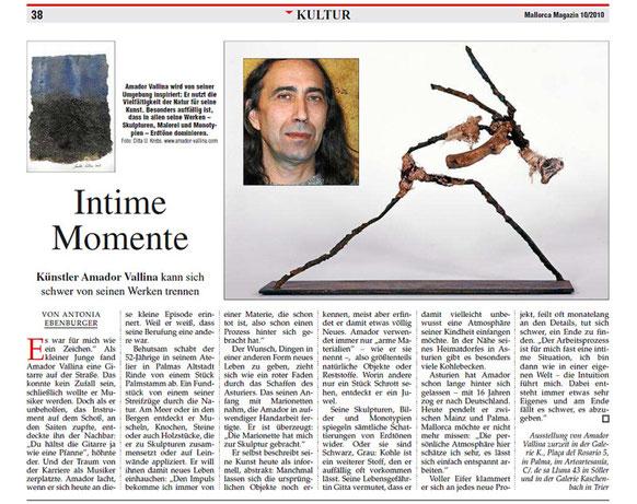 Mallorca Magazin: Momentos Intímos Amador Vallina