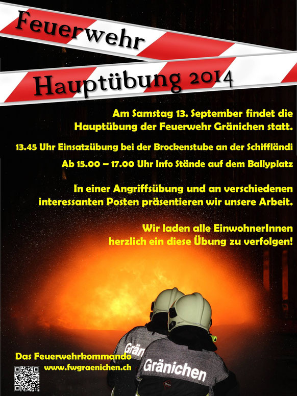 Flyer Hauptübung 2014