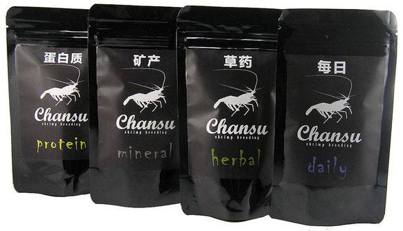 Chansu, Garnelen Futter