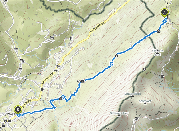 Bild: Wanderung Söllereck nach Riezlern