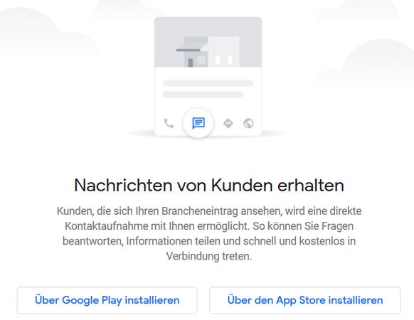 Aktivierung Nachrichten in Google MyBusiness