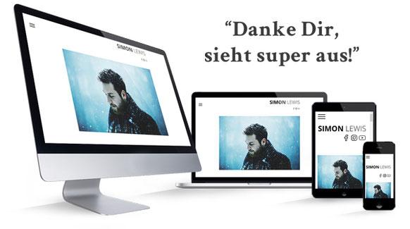 offizielle webseite von simon lewis sänger