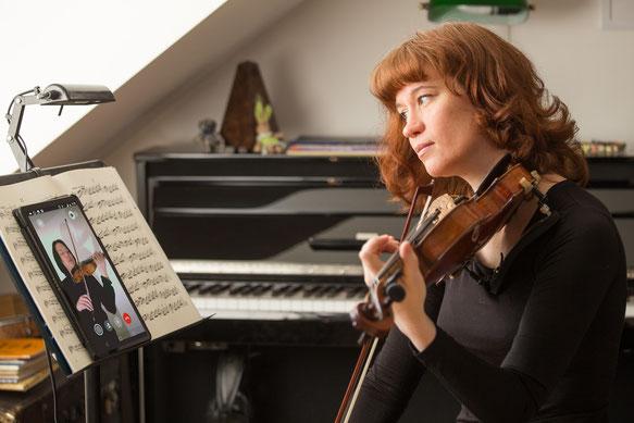 Skype-Geigenunterricht bei professionellen Geigenlehrern © Eugene Nakamura, Internationale Klavier & Violinschule