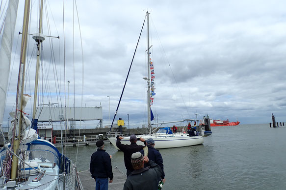 Laser-Training in der Bucht / 05.07.2021, Foto: Leik Schaare