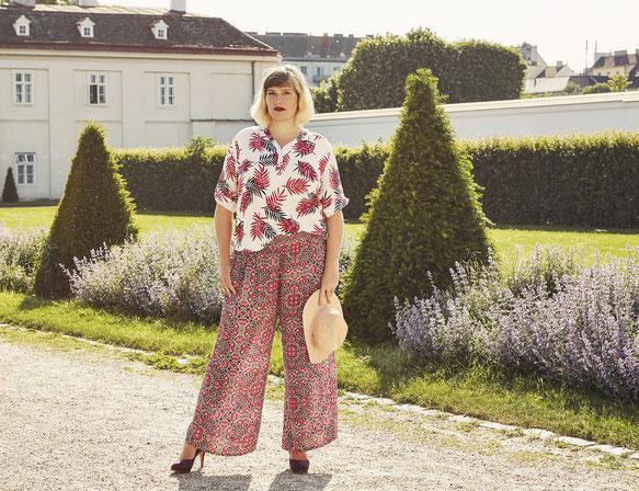 schicke Damen Hose Palazzo Style in XXL , Damenhose bequem für Mollige