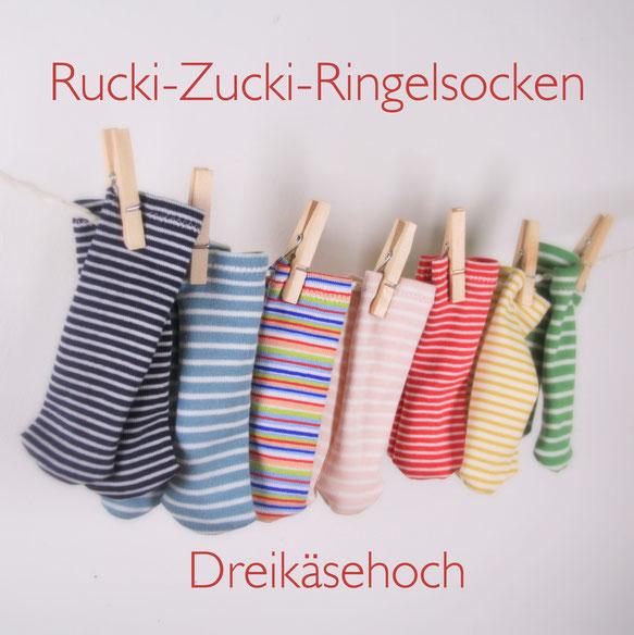 Rucki-Zucki-Ringelsocken für Dreikäsehoch - Barbaras Puppen Welt ...