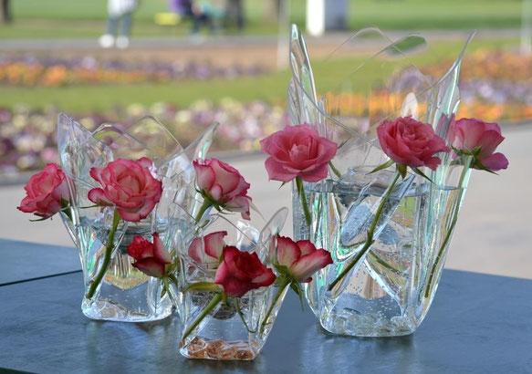 Foto:        Acrylglas Vase mittel, Acrylglas Vase klein, Acrylglas Vase groß