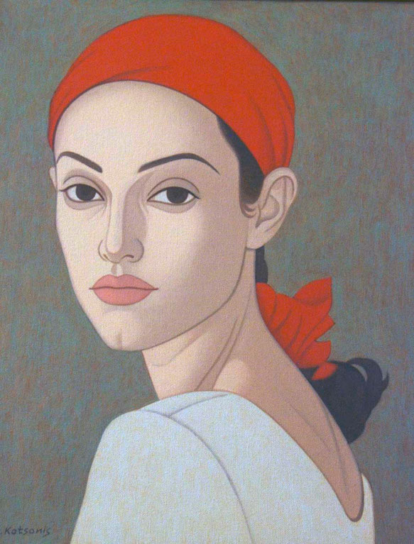 George Kotsonis, Portrait of a Young Girl 1996, State Collection of Contemporary Art, Nicosia