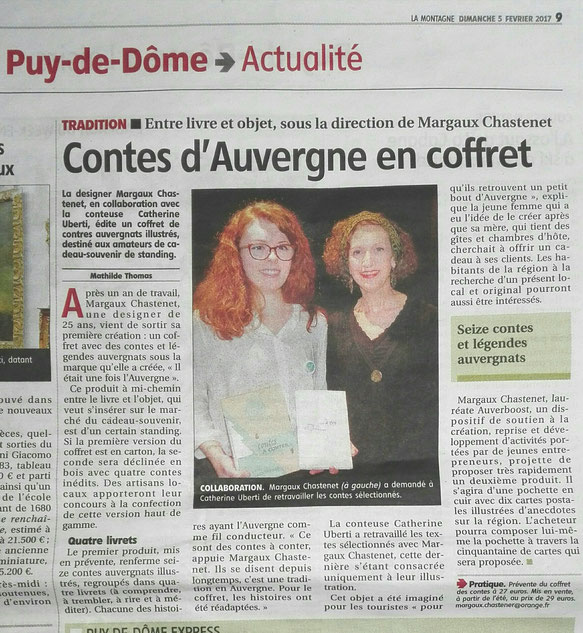 article de La Montagne sur la soirée promotionnelle Il était une fois l'Auvergne ®