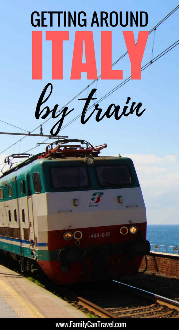 Travelling by train is one of the best ways to get around Italy. It'smore relaxing than renting a car and the scenery is spectacular. Don't be shy taking the train with kids, it's a great way to travel with kids! #familytravel #italy #travelwithkids