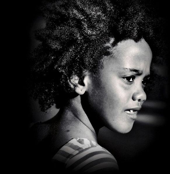 Das Mädchen vom Fischerdorf Calhau (Kapverden)