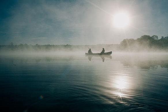 Coaching Berlin sicher auf dem Boot durch den Nebel