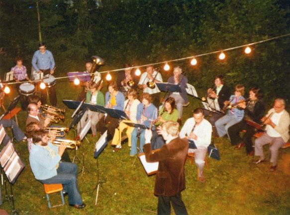 Auftritt von Musikern bei Fest