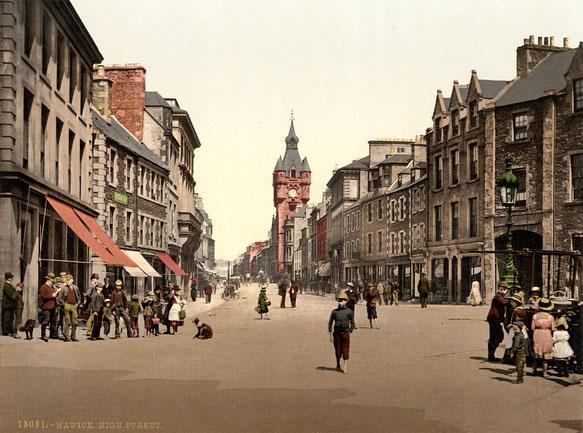 Rue principale d'Hawick (entre 1890 et 1990)