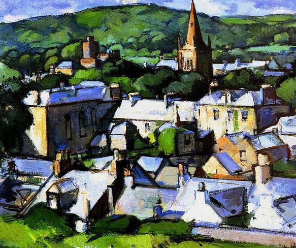 Peinture de Kirkcudbright par Samuel John Peploe (1919)