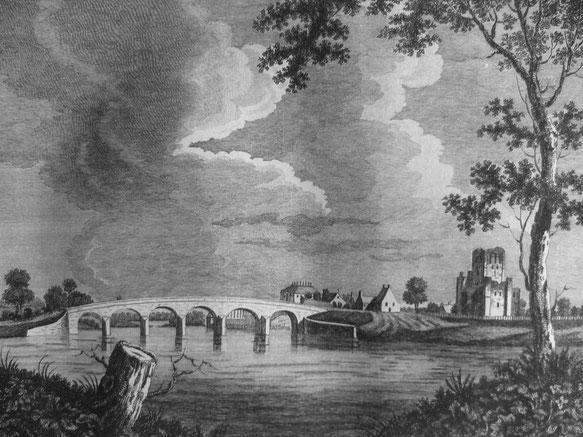 Abbaye et pont de Kelso en 1774