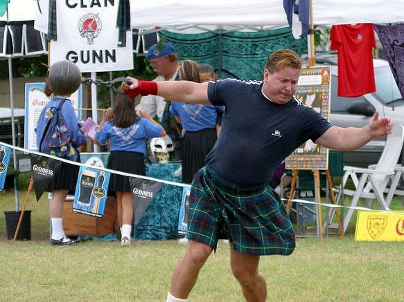Lancé de poids aux Highland Games