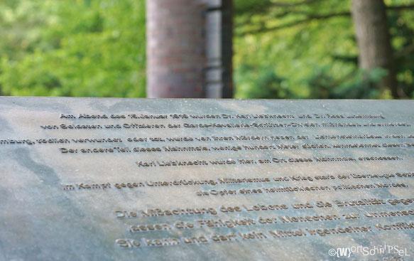 Gedenktafel für Rosa Luxemburg und Karl Liebknecht