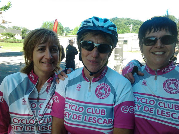 Marie-Hélène ( ici au centre ) ne peut qu'être pleinement satisfaite de la totale réussite de cette aventure dont elle fut l'initiatrice au niveau du CCPL !
