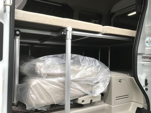 軽ボックス・軽キャンパー ベッドキットはOSPトランポキット
